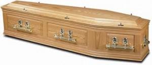 wood coffin